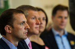 Pictured: Steven Geffins<br /> <br /> Scottish Labour leader  Kezia Dugdale MSP  joined Scottish Greens Sarah-Beattie Smith, Conservative Jackson Carlop, SNP's Steven Geffins MP along with  Liberal Democrats Nick Clegg and Willie Rennie at the European Movement for Scotland rally in Edinburgh today.<br /> Ger Harley | EEm 16 June 2016
