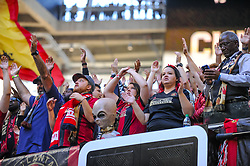 October 21, 2018 - Atlanta, GA, U.S. - ATLANTA, GA - OCTOBER 21: Atlanta United supporters during the MLS game between the Atlanta United and the Chicago Fire on October 21, 2018 at the Mercedes-Benz Stadium in Atlanta, GA. Atlanta United FC secured a place in next year's CONCACAF Champions League with a 2-1 victory against the visiting Chicago Fire. (Photo by John Adams/Icon Sportswire) (Credit Image: © John Adams/Icon SMI via ZUMA Press)
