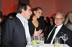 Left to right, PRINCE & PRINCESS NIKOLAOS OF GREECE and DIEGO DELLA VALLE  at the TOD'S Art Plus Drama Party at the Whitechapel Gallery, London on 24th March 2011.