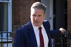 © Licensed to London News Pictures. 07/05/2021. London, UK. Labour Party Leader Sir Keir Starmer leaves his house in north London after it was announced that the Conservative Party have won the Hartlepool by-election. Local and mayoral elections have taken place in England, with National Assembly elections in Wales and Scotland. Results are expected over the weekend. Photo credit: Peter Macdiarmid/LNP