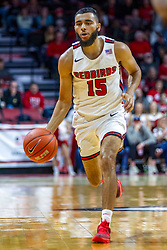 NORMAL, IL - November 29: Lijah Donnelly during a college basketball game between the ISU Redbirds and the Prairie Stars of University of Illinois Springfield (UIS) on November 29 2019 at Redbird Arena in Normal, IL. (Photo by Alan Look)