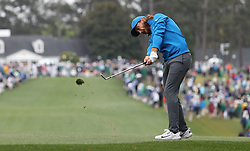 April 7, 2018 - Augusta, GA, USA - Tommy Fleetwood hits from the 1st fairway during the third round of the Masters Tournament on Saturday, April 7, 2018, at Augusta National Golf Club in Augusta, Ga. (Credit Image: © Jason Getz/TNS via ZUMA Wire)