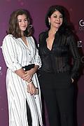 Schauspielerin Tonia Maria Zindel (re.) mit Tochter Luzia anlässlich der Glory-Verleihung 2018 am 12. Januar 2019 im Aura Club Zürich.