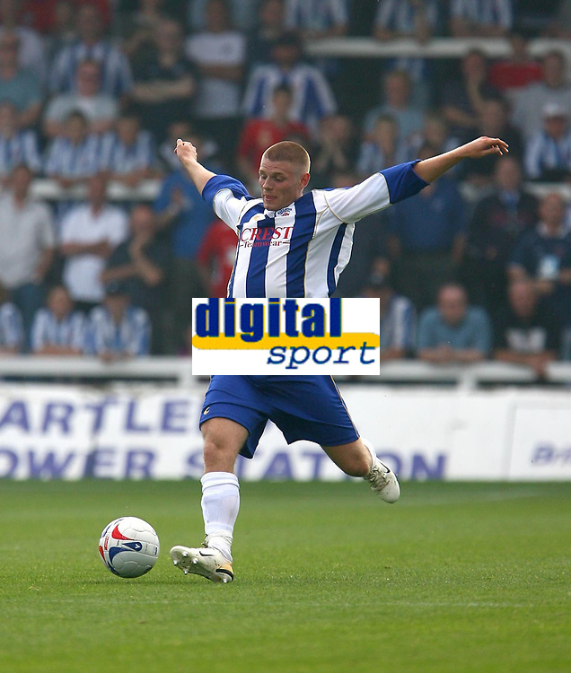Photo: Andrew Unwin.<br />Hartlepool United v Leeds United. Pre Season Friendly. 22/07/2006.<br />Hartlepool's Michael Maidens.