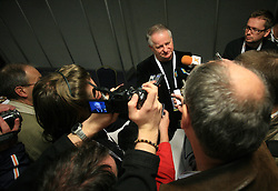 at press conference of Slovakian Head Coach Julius Supler at IIHF WC 2008 in Halifax, on May 07, 2008 in Metro Center, Halifax, Canada. (Photo by Vid Ponikvar / Sportal Images)