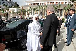 Algerian PM Abdelmalek Sellal greets his Nigerien counterpart Brig Rafini at the Government palace in Algiers, Algeria, October 27, 2016. Photo by Billal Bensalem/APP/ABACARESS.COM