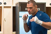 LAS VEGAS, NV - JULY 9:  Cain Velasquez warms up in the locker room before UFC 200 at T-Mobile Arena on July 9, 2016 in Las Vegas, Nevada. (Photo by Cooper Neill/Zuffa LLC/Zuffa LLC via Getty Images) *** Local Caption *** Cain Velasquez