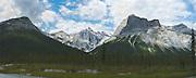 Panoramic view of Emerald Peak, Yoho National Park, near Golden, British Columbia, Canada.