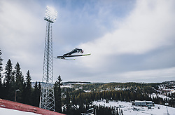11.03.2020, Granasen, Trondheim, NOR, FIS Weltcup Skisprung, Raw Air, Trondheim, Herren, im Bild Karl Geiger (GER) // Karl Geiger of Germany during men's 3rd Stage of the Raw Air Series of FIS Ski Jumping World Cup at the Granasen in Trondheim, Norway on 2020/03/11. EXPA Pictures © 2020, PhotoCredit: EXPA/ JFK