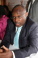 PRETORIA - 15 November 2010 - Advocate Sandile Nogxina, the director general of South Africa's Mineral Resources department speaks to journalists on the audit of  prospecting licences granted by his department.-- APP/Allied Picture Press