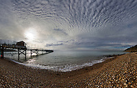 Everything changes…. The old pier in Totland Bay is being pulled down and replaced and I really hope the new design keeps some of the old charm. Over the years it's been one of my favourite places to be with my camera, especially when Mackerel skies cover the bay.<br /> <br /> Single wide-angle frame with the Sigma 10-20mm lens at f10.0  1/200.<br /> <br /> <br /> Part of the Ocean Seen - Oceanic Photography Exhibition.<br /> <br /> Sponsored by Wightlink - Dimbola Museum & Galleries, Freshwater Bay, Isle of Wight - 29th June to 2nd September 2012.<br /> <br /> A collaborative summer show, bringing together three great oceanic photographers to celebrate the way we interact with our great British coastline.