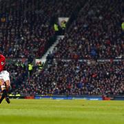 Manchester United's Juan Veron scores their second goal