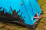 Glastonbury Festival, 2015.<br /> Sleeping off the night before in a hot tent