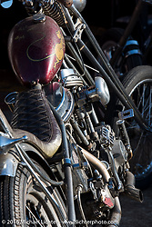 Custom Harley-Davidson Panhead at Shinji Ueda's Blacktop Motorcycles in Tokyo, Japan photographed after the Mooneyes Yokohama Hot Rod & Custom Show on Tuesday, December 6, 2016.  Photography ©2016 Michael Lichter.