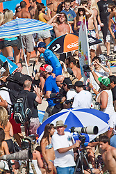 HUNTINGTON BEACH, California/USA (Saturday, August 7, 2010) -- Carissa Moore is carry out by fans to the awards platform after defeating Sally Fitzgibbons of Australia to win  the Hurley US Open of Surfing. Photo: Eduardo E. Silva