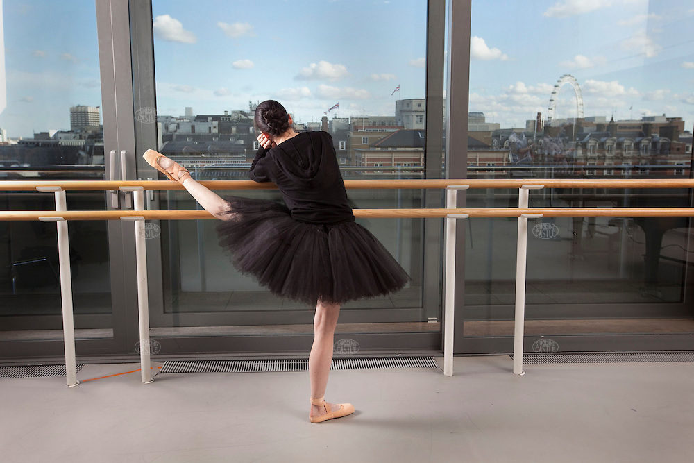 Photo ©2009 Tom Wagner.  Portrait of Mara Galeazzi, ballerina, a Principal, at the Royal Opera House, London where she has danced since 1992. Galeazzi is an Italian who has lived in London for more than a decade. Photo ©2009 Tom Wagner,  ©Tom Wagner 2009, all rights reserved, all moral rights asserted..