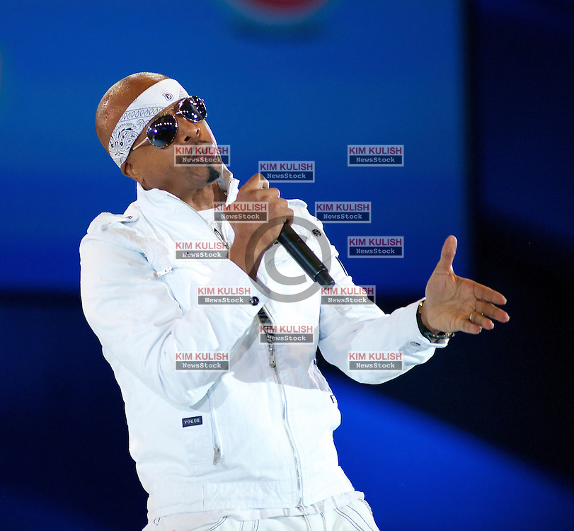 Musician MC Hammer performs a series of his hit songs to open the Salesforce 2012 Dreamforce Conference in San Francisco, California.  A reported 90,000 people registered to attend the vendor technology event.