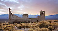 A Crumbling Structure Overlooking The Amargosa Valley At Rhyolite Nevada, An Abandoned Town Near Death Valley