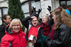 December 9, 2016 - Salem, Oregon, U.S - People gather outside the Oregon Court of Appeals in Salem before proceeding in a suit against Oregon Gov. Kate Brown and the state of Oregon for violating plaintiffs constitutional and public trust rights. The case is seeking a court order to compel the state to take science-based action to address the climate crisis and prevent catastrophic and irreversible impacts. (Credit Image: © Robin Loznak via ZUMA Wire)