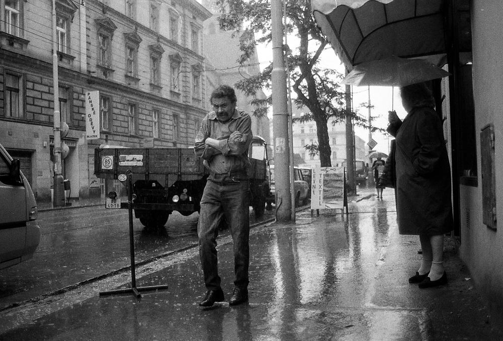 Rain in Zizkov.