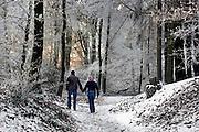 Nederland, Ubbergen, 22-12-2007..Wandelaars door het winterlandschap in de bossen van Beek-Ubbergen..Foto: Flip Franssen/Hollandse Hoogte