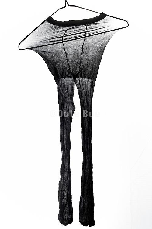 stretch leggings on clothing hanger