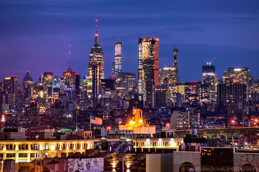 Midtown Manhattan Skyline from Sunset Park, Brooklyn