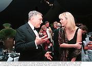 Conrad Black and Elizabeth Murdoch. David Tang party for Royal Academy. Hempel. London. 16/11/98<br />© Copyright Photograph by Dafydd Jones 66 Stockwell Park Rd. London SW9 0DA Tel 0171 733 0108