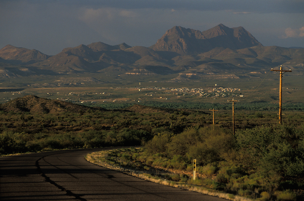 The small town of Peridot on the San Carlos Apache Indian Reservation in Arizona, USA. June 2004.
