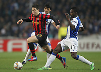 20120216: PORTO, PORTUGAL – UEFA Europa League 2011/2012 - 1/16 Final - 1st Leg: FC Porto vs Man. City.<br /> In photo: LUCHO GONZALEZ AND VARELA.<br /> PHOTO: PEDRO PEREIRA/CITYFILES