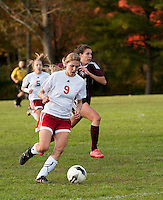 Girls varsity soccer Pittsfield versus Derryfield October 11, 2011.