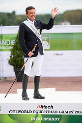 Pepo Puch and Fine Feeling S won silver during the Individual Test - Individual Test Grade Ib Para Dressage - Alltech FEI World Equestrian Games™ 2014 - Normandy, France.<br /> © Hippo Foto Team - Jon Stroud <br /> 25/06/14