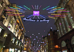 London's key shopping streets are all lit up in time for the Christmas rush. 16 Nov 2018 Pictured: Oxford Street. Photo credit: ROS/Capital Pictures / MEGA TheMegaAgency.com +1 888 505 6342