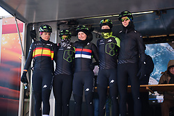 Defending champions, Cylance Pro Cycling sign on at Le Samyn des Dames 2018 - a 103 km road race on February 27, 2018, from Quaregnon to Dour, Belgium. (Photo by Sean Robinson/Velofocus.com)