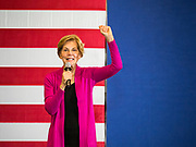 16 NOVEMBER 2019 - WAVERLY, IOWA: US Senator ELIZABETH WARREN (D-MA) speaks at Wartburg College during her campaign appearance at the college. Sen. Warren campaigned at Wartburg College in Waverly Saturday afternoon. She is running to be the Democratic candidate for the US Presidency in the 2020 election. Iowa hosts the first selection event of the presidential election season. The Iowa caucuses are February 3, 2020.           PHOTO BY JACK KURTZ