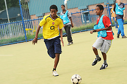 Football training session with NBSCA Bolton Wonderers for local children,The Communities R Us project seeks to build a better understanding of the ways in which long-term residents and newer refugee communities can build positive relationships. UK