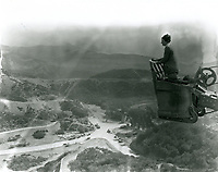 1923 Publicity photo of the early development of Hollywoodland.