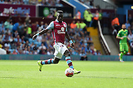 Idrissa Gana of Aston Villa in action. Barclays Premier League match, Aston Villa v Sunderland at Villa Park in Birmingham, Midlands on Saturday 29th August  2015.<br /> pic by Andrew Orchard, Andrew Orchard sports photography.