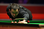 Ronnie O'Sullivan of England during his 2nd round match against Graeme Dott of Scotland. ManBetx Welsh Open Snooker 2018, day three at the Motorpoint Arena in Cardiff, South Wales on Wednesday 28th February 2018.<br /> pic by Andrew Orchard, Andrew Orchard sports photography.
