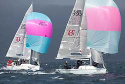 Day one of the Silvers Marine Scottish Series 2015, the largest sailing event in Scotland organised by the  Clyde Cruising Club<br /> Racing on Loch Fyne from 22rd-24th May 2015<br /> <br /> GBR7052N, More T Vicar, Carl Allen, Royal North of Ireland YC, Hunter 707<br /> <br /> <br /> Credit : Marc Turner / CCC<br /> For further information contact<br /> Iain Hurrel<br /> Mobile : 07766 116451<br /> Email : info@marine.blast.com<br /> <br /> For a full list of Silvers Marine Scottish Series sponsors visit http://www.clyde.org/scottish-series/sponsors/