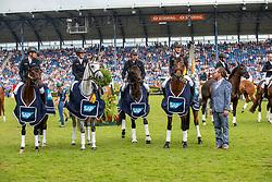Team Deutschland<br /> Aachen - CHIO 2019<br /> Siegerehrung Nationenpreis<br /> SAP-Cup<br /> Teilprüfung Cross-Country<br /> 20. Juli 2019<br /> © www.sportfotos-lafrentz.de/Stefan Lafrentz