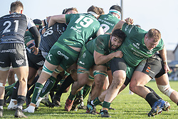 March 2, 2019 - Galway, Ireland - Connacht players score a try during the Guinness PRO 14 match  between Connacht Rugby and Ospreys at the Sportsground in Galway, Ireland on March 2, 2019  (Credit Image: © Andrew Surma/NurPhoto via ZUMA Press)