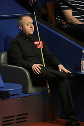 John Higgins during day seventeen of the 2018 Betfred World Championship at The Crucible, Sheffield. PRESS ASSOCIATION Photo. Picture date: Monday May 7, 2018. See PA story SNOOKER World. Photo credit should read: Richard Sellers/PA Wire