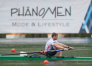 Lucerne, SWITZERLAND,  2016 FISA WCII, Men's single  scull GBR M1X Alan CAMPBELL, Lake Rotsee Lake Rotsee, Sunday, 29/05/2016,<br /> [Mandatory Credit; Peter SPURRIER/Intersport-images]