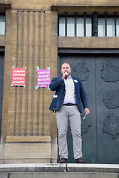 Defend Democracy: Stop The Coup protest outside City Hall, Norwich UK 7 September 2019 - anti Boris Johnson protest. Martin Scmierer, Norwich Green Party Councillor