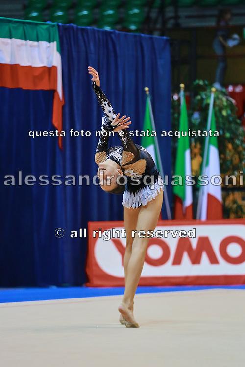 Camilla Busetti  atleta della società Virtus di Gallarate durante la seconda prova del Campionato Italiano di Ginnastica Ritmica.<br /> La gara si è svolta a Desio il 31 ottobre 2015.