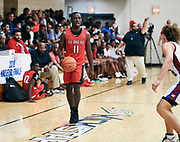 NORTH AUGUSTA, SC. July 10, 2019. Garvin Clarke 2020 #11 of All Ohio Red 17U at Nike Peach Jam in North Augusta, SC. <br /> NOTE TO USER: Mandatory Copyright Notice: Photo by Jon Lopez / Nike