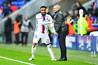 FOOTBALL : Lyon vs Guingamp - Ligue 1 - 22/10/2016<br /> 10 ALEXANDRE LACAZETTE (ol) - BRUNO GENESIO (ENTRAINEUR LYON) - JOIE<br /> Norway only