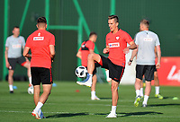 ARLAMOW, POLAND - MAY 31: Arkadiusz Milik during a training session of the Polish national team at Arlamow Hotel during the second phase of preparation for the 2018 FIFA World Cup Russia on May 31, 2018 in Arlamow, Poland. (MB Media)