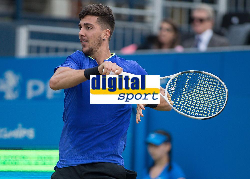 Tennis - 2017 Aegon Championships [Queen's Club Championship] - Day Four, Thursday <br /> <br /> Men's Singles: Round of 16 - Daniil MEDVEDEV (RUS) Vs Thanasi KOKKINAKIS (AUS)<br /> <br /> Thanasi Kokkinakis (AUS) at Queens Club<br /> <br /> COLORSPORT/DANIEL BEARHAM